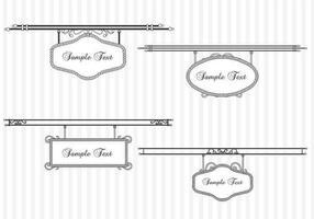 Weinlese-hängende Zeichen-vektor-Satz