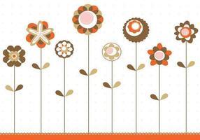 Retro Blumen Hintergrund Vektor