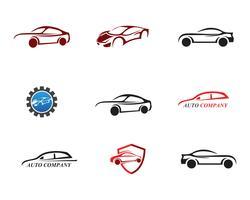 Race car logo, enkel design illustration vektor