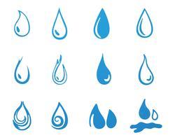 Wassertropfen schwarz n Farbe Logos
