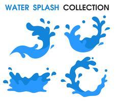 Water Splash icon Einfache Cartoon-Stil. vektor