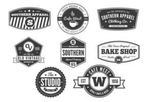 Vintage badge vectors pack: vol 2