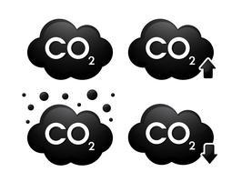 Gaskabondioxid 3D-ikoner. Vektor illustration.