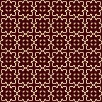 Seamless linjärt mönster med eleganta böjda linjer och rullar dekorativa tapeter.