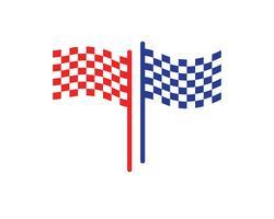 flaggmalllogotyp och symbolvektorer vektor