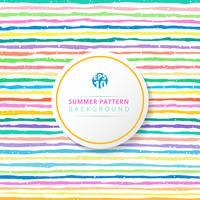 Gestreiftes Muster des Sommers bunt auf weißem Hintergrund.