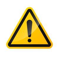 Vektor tecken varningstecken av högspänningsrisk Isolerad på en vit bakgrund