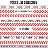 Rött och vitt polisband För varning av farliga områden vektor
