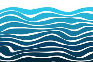 Gebogene Linie Hintergrund mit schönen Wasserwellen, die modern aussehen. vektor