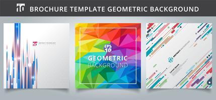 Set Vorlage geometrische Abdeckungen Design. vektor
