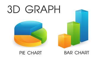 3D-cirkel och stapeldiagram som ser vackert och modernt ut vektor