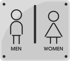 Män och kvinnor Toalett ikon teman Det ser enkelt och modernt ut. Illustration Vektor EPS10.