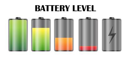 Strömnivånsymbol på smarttelefonbatteriet. vektor