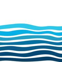 Böjd linje bakgrund med vackra vatten vågor som ser moderna ut. vektor