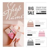 Online-Verkauf-Banner-Vorlage