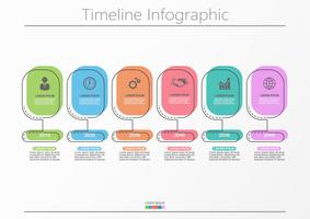 Visualisierung von Geschäftsdaten. Infographik Timeline Icons für abstrakte Hintergrundvorlage.