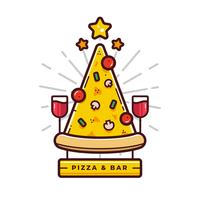 Pizza-Logo-Vektor vektor