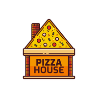 pizza logotyp vektor