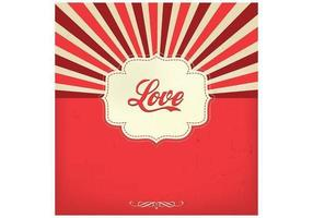 Sunburst Love Vector Background