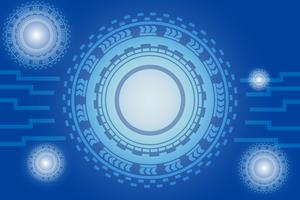 digitales Kommunikationskonzept für Technologiehintergrund