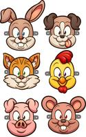 Cartoon Tiermasken vektor