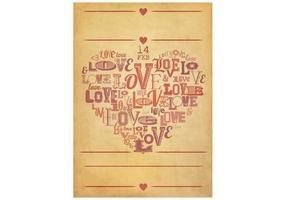 Grungy Valentinstag Poster Vektor