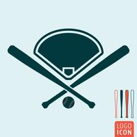 Baseball ikon isolerad