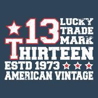 Dreizehn Vintage Briefmarke