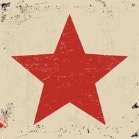 Grunge roten Stern vektor