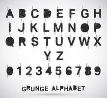 Alphabet Grunge Schriftart vektor