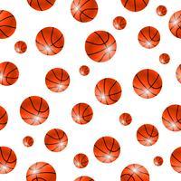 Nahtloser Hintergrund des Baskettballballs