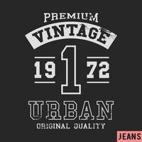 Premium Vintage Briefmarke vektor