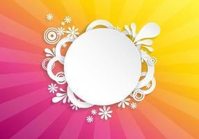 Bright Floral Sunburst Vektor Hintergrund