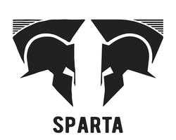 Spartan Helm-Symbol vektor