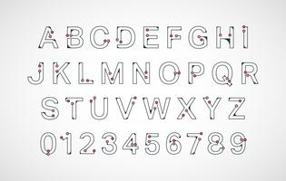 Alphabet Schriftvorlage vektor