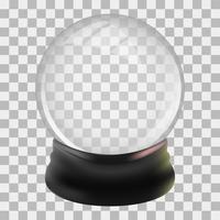 Snowglobe designmall vektor