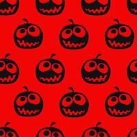 Halloween pumpa sömlös bakgrund vektor