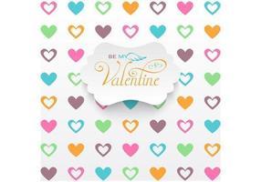 Herz gefüllter Valentinstag-Vektor-Hintergrund