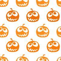 Halloween Kürbis nahtlose Hintergrund vektor