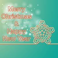 Frohe Weihnachten und Happy New Year-Karte vektor
