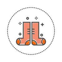 Symbol Socke Vektor isoliert