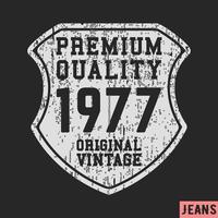 1977 sköld vintage stämpel
