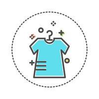 Wäschereiikonen in der flachen Farbart. Vektor-illustration