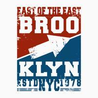 Brooklyn vintage frimärke vektor