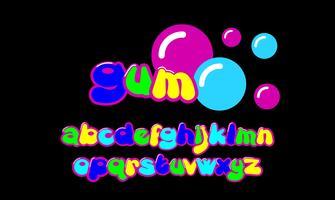Blase benutzerdefinierte Schriftart vektor