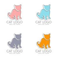enkel kattlogotypdesign