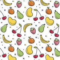 Früchte Muster vektor