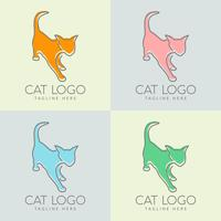enkel kattlogotypdesign vektor