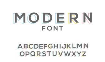 enkel modern anpassad typsnitt