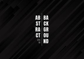 Abstrakta geometriska svarta och grå diagonala ränder linjer mönster modern stil bakgrund. vektor